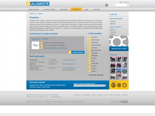 Internetové stránky - Alumistr s.r.o. (ARTISHOCK s.r.o.)