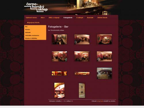 Internetové stránky - Černohorský sklep Brno (restaurant)