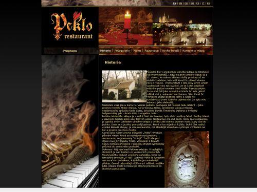 Internetové stránky - Peklo restaurant Praha