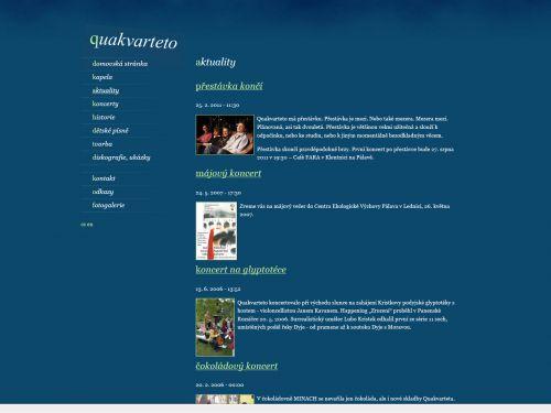 Internetové stránky - Quakvarteto (hudební skupina)