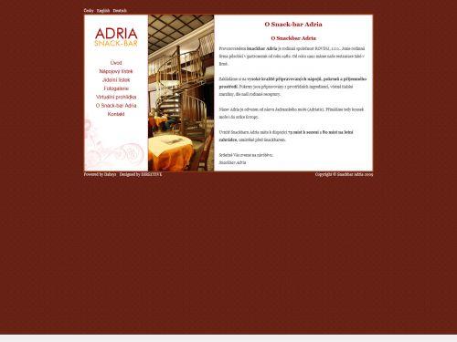 Internetové stránky - Snackbar Adria (Directive.cz)