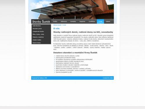 Internetové stránky - Stavby Šusták - Stavební firma