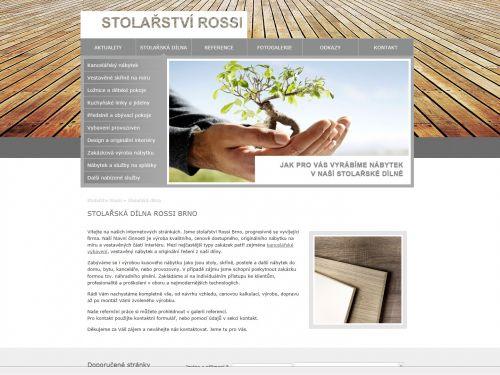 Internetové stránky - Stolařství Marek Rossi (firemní web)