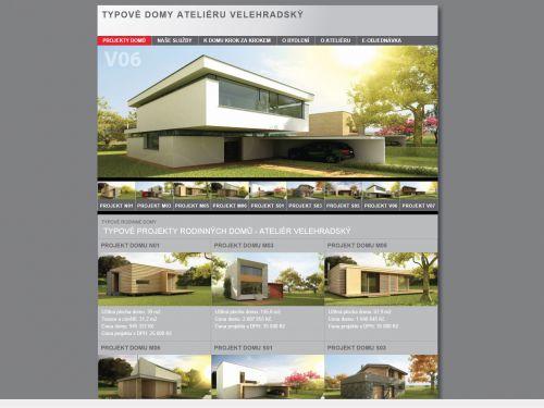 Internetové stránky - Typové rodinné domy - Atelier Velehradský