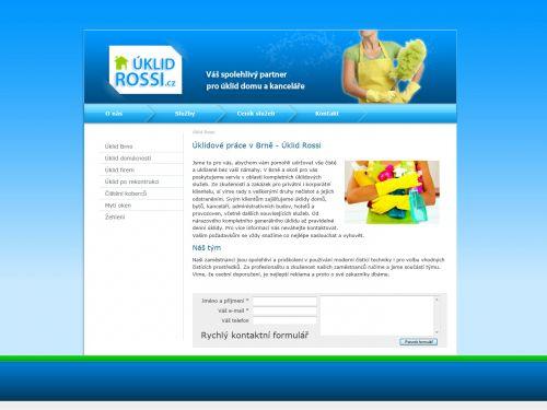 Internetové stránky - Úklid Marek Rossi (web úklidové firmy)