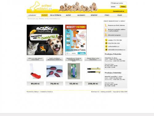 Internetový obchod - Zvířecí miláčci (internetový obchod)
